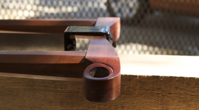 Shop made Fidgenian frame saw – part 3