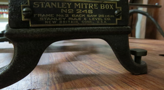 Stanley no. 246 Mitre box/saw restoration