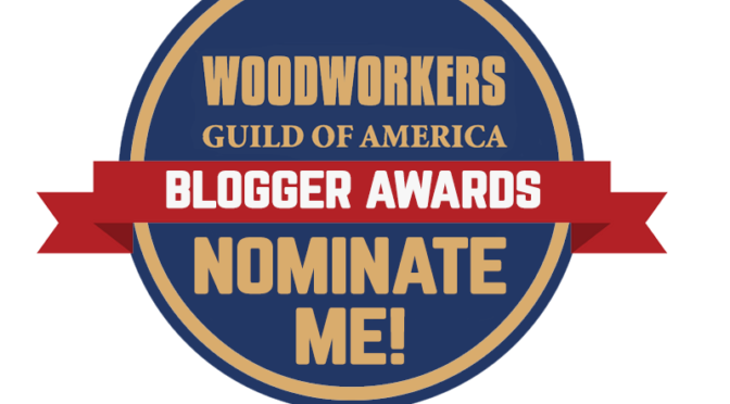 Je Ne Sais Quoi Woodworking received a nomination for the Blogger Awards